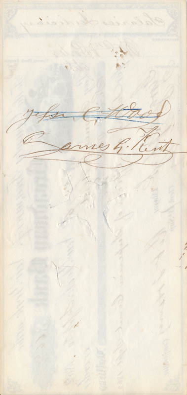 Image 3 for Mayor George Opdyke - Autographed Signed Check 09/30/1862 co-signed by: Robert T. Haws - HFSID 326778