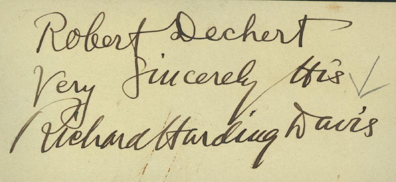 Image 1 for Richard Harding Davis - Inscribed Signature - HFSID 32678