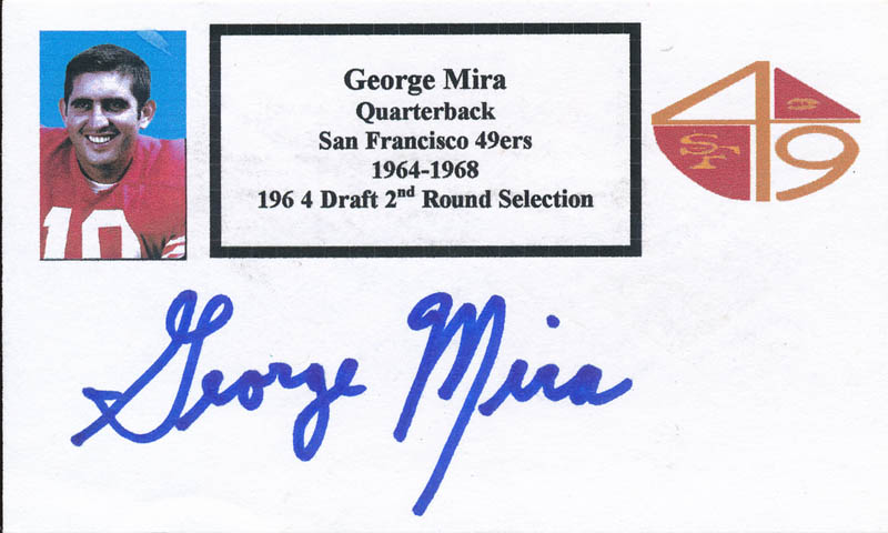 Image 1 for George Mira - Printed Card Signed In Ink - HFSID 326800