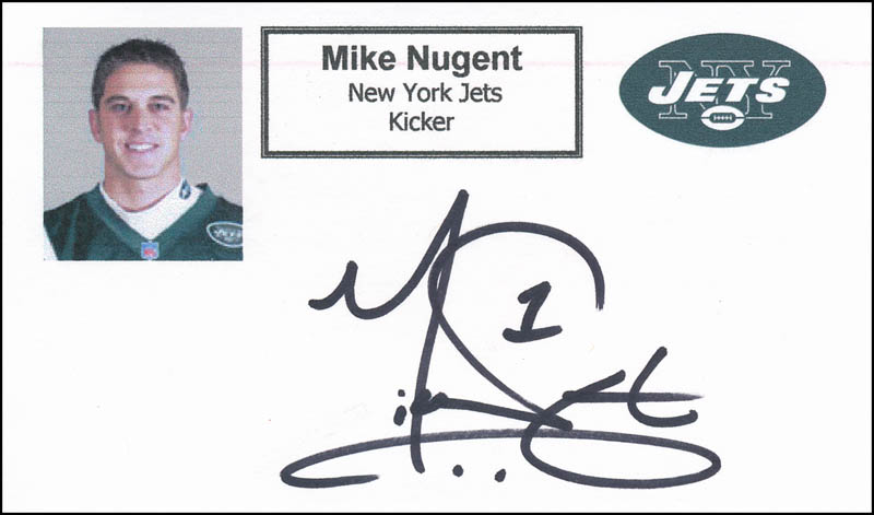 Image 1 for Mike Nugent - Printed Card Signed In Ink - HFSID 326842