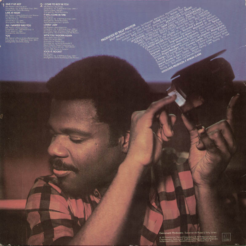 Image 3 for Billy Preston - Record Album Cover Signed - HFSID 326866