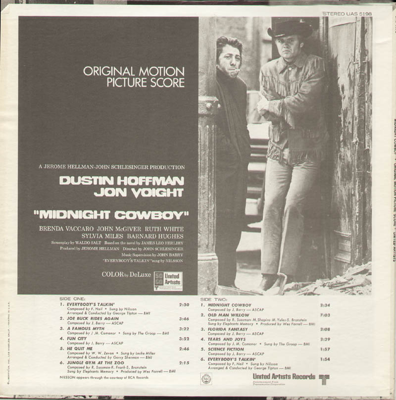 Image 3 for Midnight Cowboy Movie Cast - Record Album Cover Signed co-signed by: Dustin Hoffman, Jon Voight - HFSID 326869
