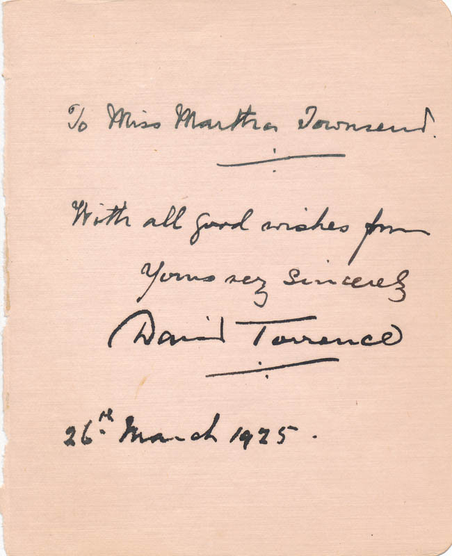 Image 1 for David Torrance - Autograph Note Signed 03/26/1925 - HFSID 326881
