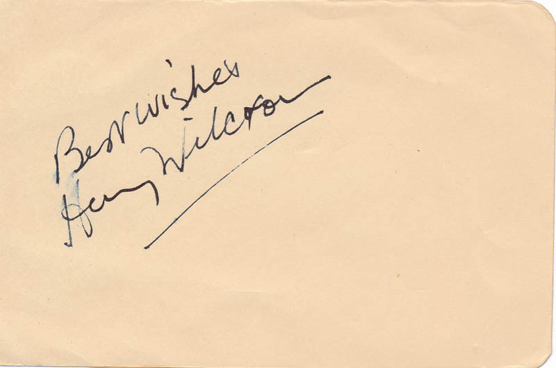 Image 1 for Henry Wilcoxon - Autograph Sentiment Signed - HFSID 326886