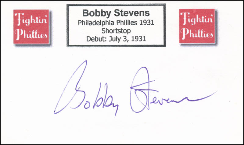 Image 1 for Bobby Stevens - Printed Card Signed In Ink - HFSID 327042