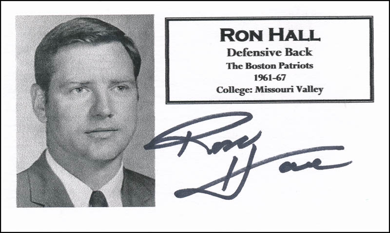 Image 1 for Ron Hall - Printed Card Signed In Ink - HFSID 327056