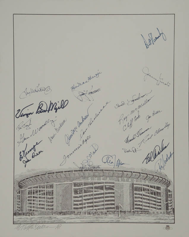 Image 1 for The New York Mets - Lithograph Signed with co-signers - HFSID 327166