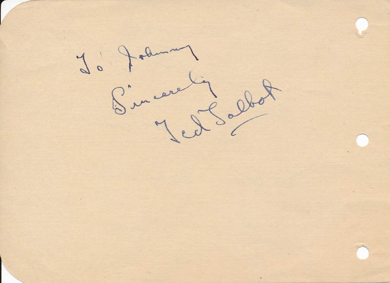 Image 3 for The Four Showmen (The Showmen) - Autograph Sentiment Signed co-signed by: Ted Talbot, Hugh Walter, George Johnston, Diane Herbert - HFSID 327218