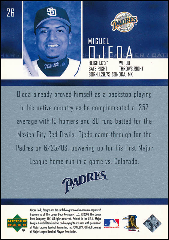 Image 3 for Miguel Ojeda - Trading/Sports Card Signed - HFSID 327276