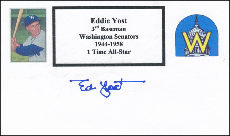 Image 1 for Eddie 'The Walking Man' Yost - Printed Card Signed In Ink - HFSID 327343