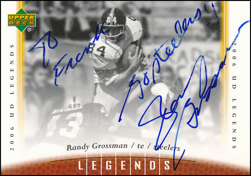 c2732d41ae0 RANDY GROSSMAN - INSCRIBED TRADING/SPORTS CARD SIGNED - HFSID 327419