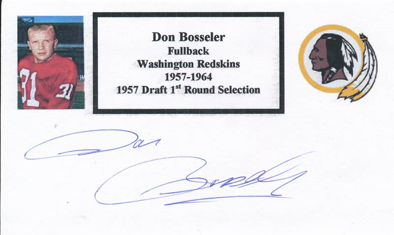 Image 1 for Don Bosseler - Printed Card Signed In Ink - HFSID 327463