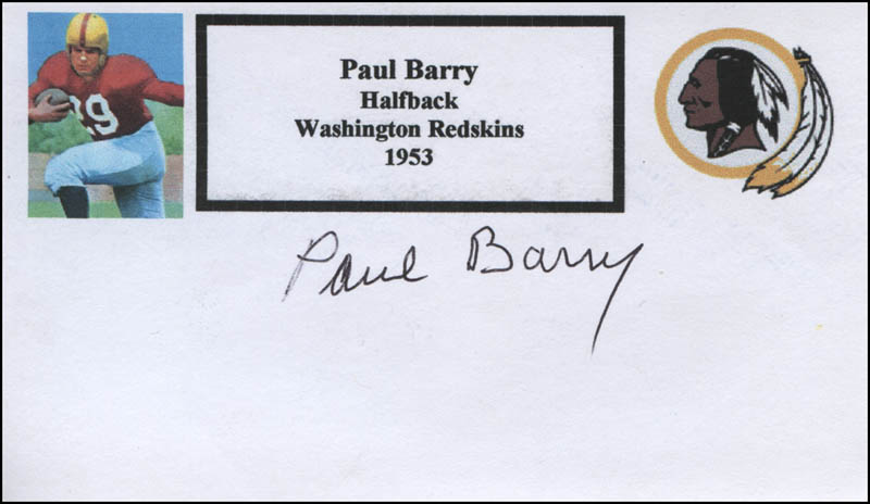 Image 1 for Paul Barry - Printed Card Signed In Ink - HFSID 327465