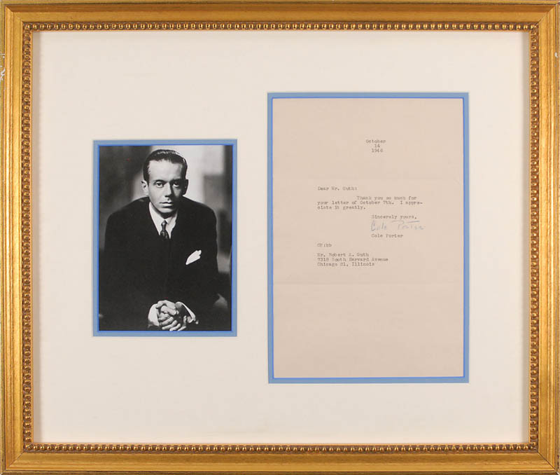 Image 1 for Cole Porter - Typed Letter Signed 10/14/1946 - HFSID 327867