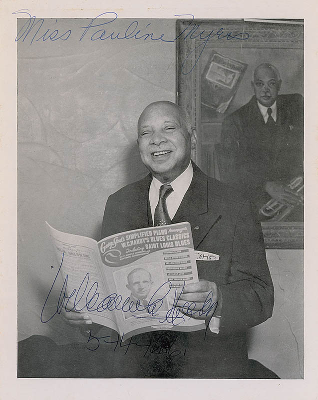 Image 1 for W.C. Handy - Autographed Inscribed Photograph 05/14/1956 - HFSID 327869