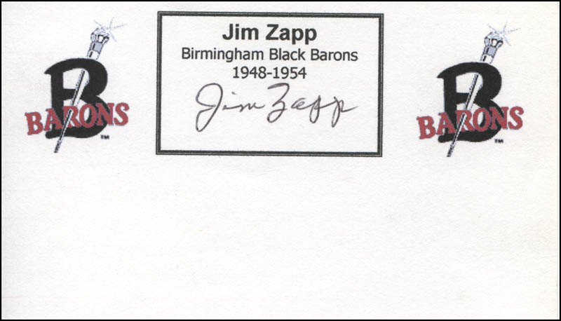 Image 1 for Jim Zapp - Printed Card Signed In Ink - HFSID 328012