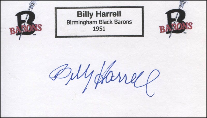 Image 1 for Billy Harrell - Printed Card Signed In Ink - HFSID 328013
