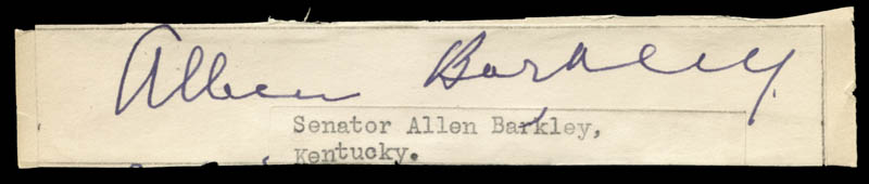 Image 1 for Vice President Alben W. Barkley - Autograph - HFSID 32809