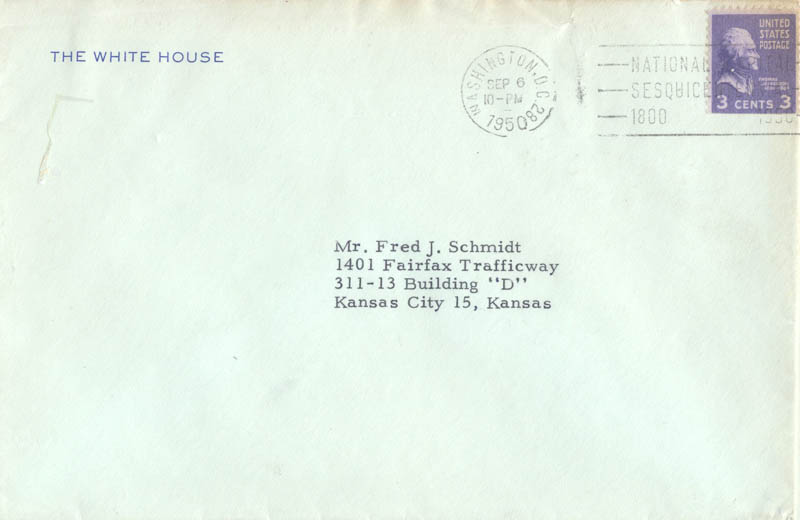 Image 3 for President Harry S Truman - Typed Letter Signed 09/06/1950 - HFSID 3287