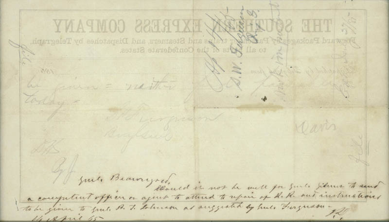 Image 3 for President Jefferson Davis (Confederate States Of America) - Autograph Note Signed 04/14/1865 with co-signers - HFSID 33036
