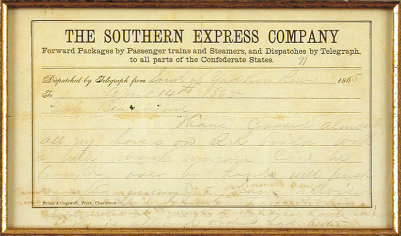 Image 4 for President Jefferson Davis (Confederate States Of America) - Autograph Note Signed 04/14/1865 with co-signers - HFSID 33036