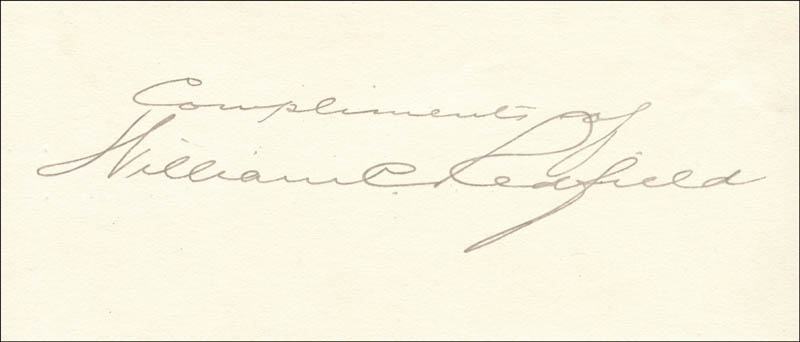Image 1 for William C. Redfield - Autograph Sentiment Signed - HFSID 33106