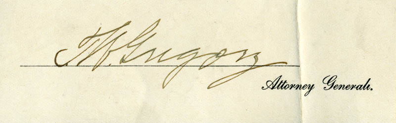 Image 1 for Thomas W. Gregory - Autograph - HFSID 33107