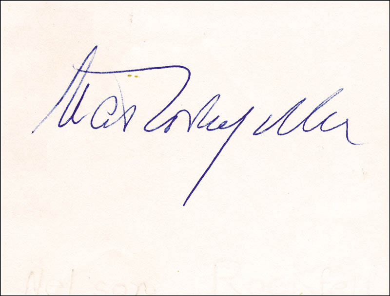 Image 1 for Vice President Nelson A. Rockefeller - Autograph - HFSID 33275