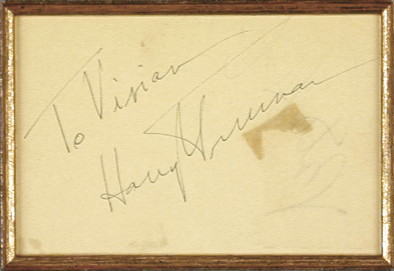 Image 3 for President Harry S Truman - Inscribed Signature co-signed by: Rita 'The Love Goddess' Hayworth - HFSID 33277