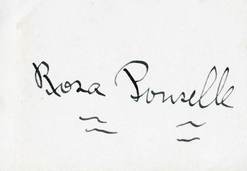 Image 1 for Rosa Ponselle - Autograph - HFSID 33304