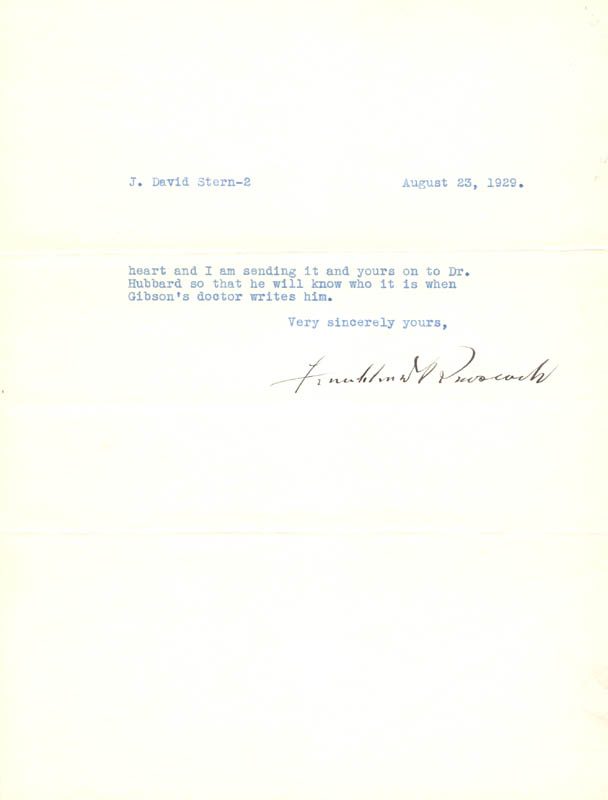 Image 1 for President Franklin D. Roosevelt - Typed Letter Signed 08/23/1929 - HFSID 33346