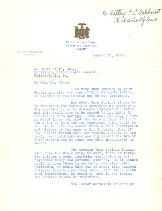 Image 3 for President Franklin D. Roosevelt - Typed Letter Signed 08/23/1929 - HFSID 33346