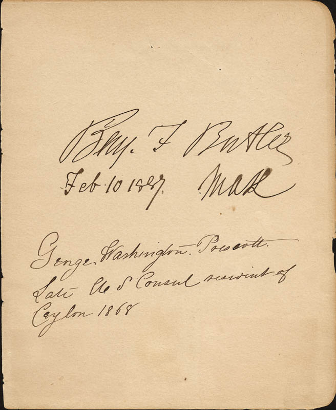 Image 1 for Major General Benjamin F. Butler - Autograph 02/10/1887 with co-signers - HFSID 33571