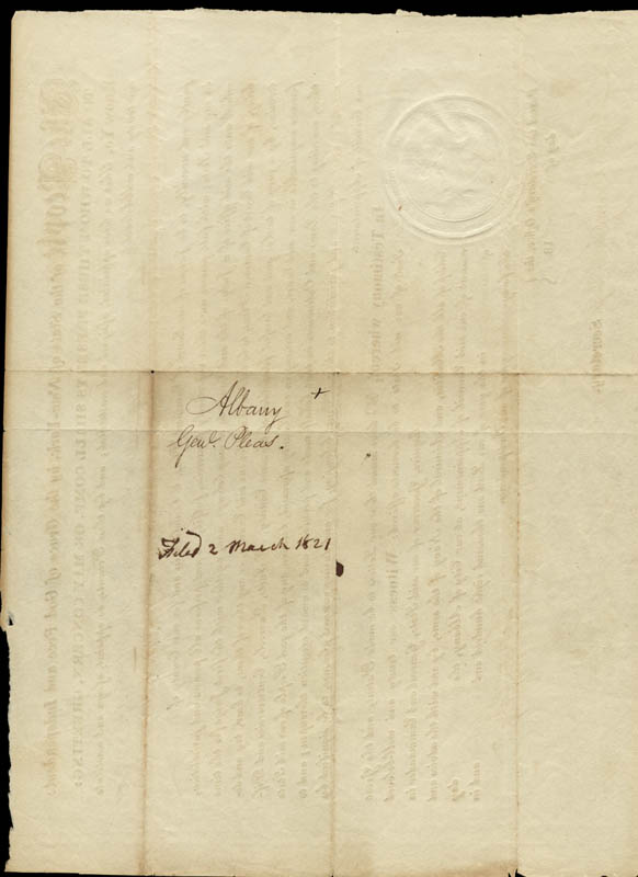 Image 3 for Governor Dewitt Clinton - Civil Appointment Signed 03/01/1821 co-signed by: Arch. Campbell - HFSID 33594