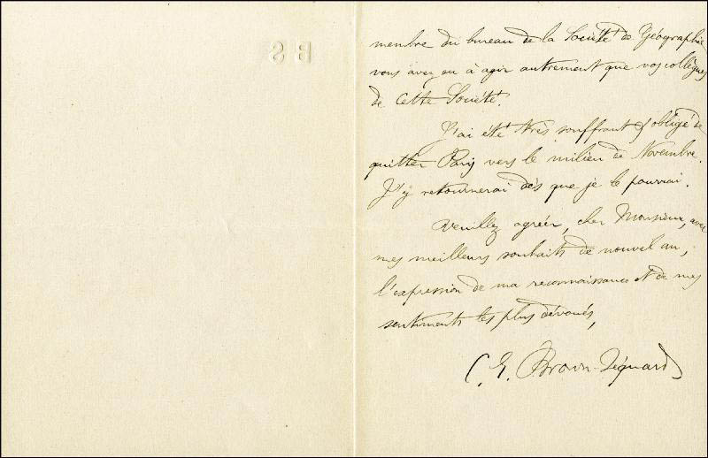 Image 1 for Charles E. Brown-sequard - Autograph Letter Signed 12/28/1885 - HFSID 33676