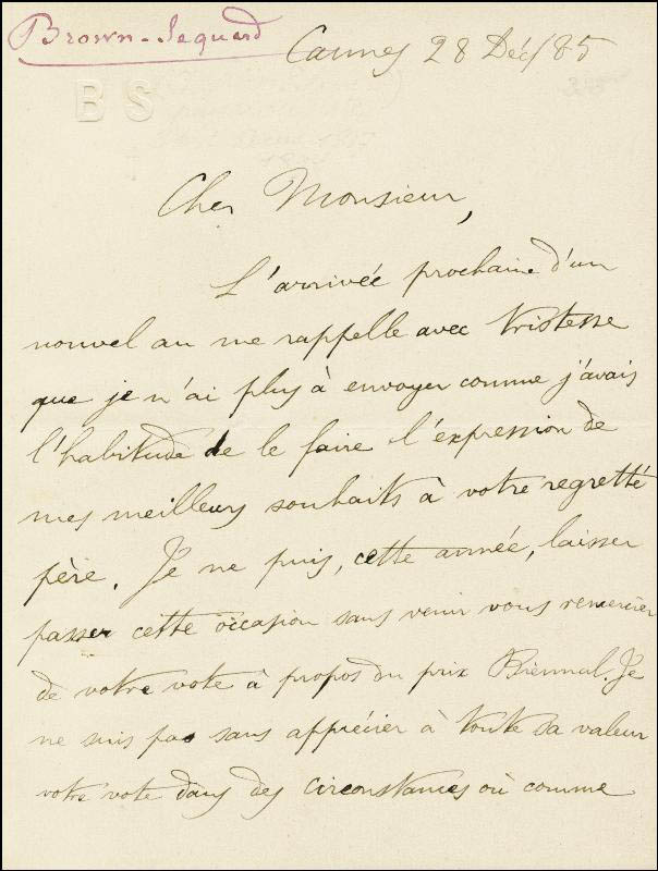 Image 3 for Charles E. Brown-sequard - Autograph Letter Signed 12/28/1885 - HFSID 33676