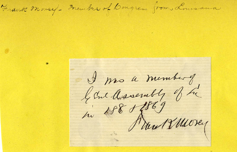 Image 1 for Frank Morey - Autograph Note Signed - HFSID 33758