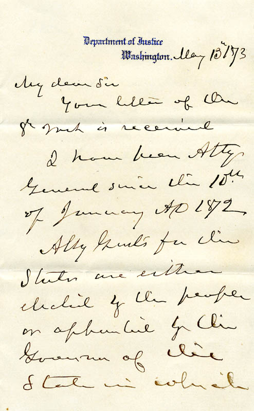 Image 3 for George H. Williams - Autograph Letter Signed 05/13/1873 - HFSID 33774