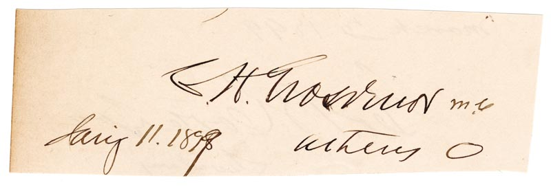 Image 3 for George B. Cortelyou - Autograph 03/03/1899 co-signed by: Brigadier General Charles H. Grosvenor - HFSID 33798