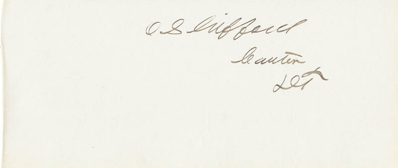 Image 1 for Oscar Sherman Gifford - Autograph - HFSID 33842