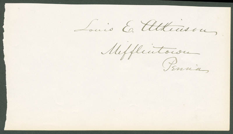 Image 1 for Louis E. Atkinson - Clipped Signature - HFSID 33920