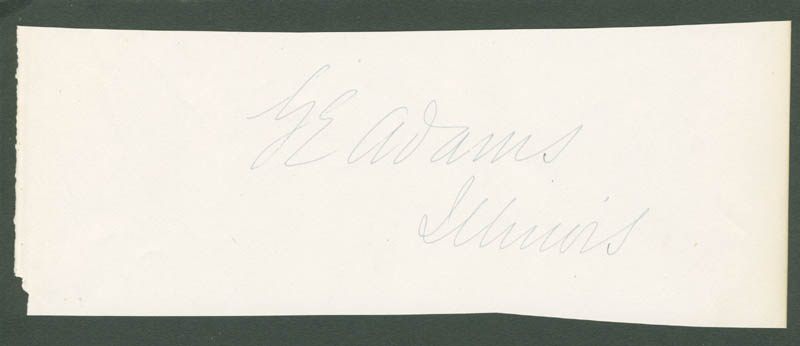Image 1 for George Everett Adams - Autograph - HFSID 33922