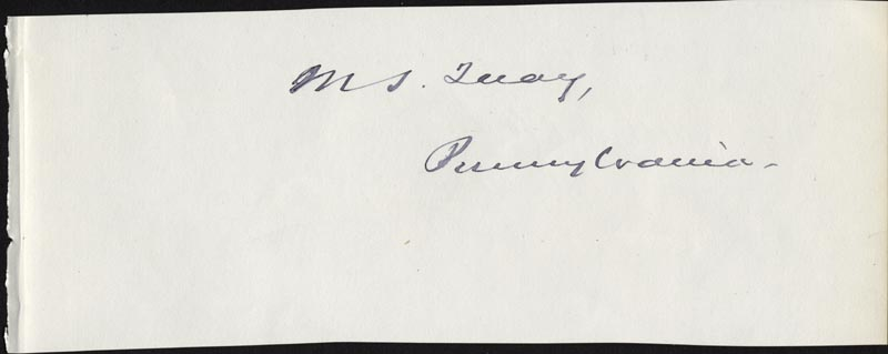 Image 1 for Matthew S. Quay - Autograph co-signed by: Arthur O'Connor - HFSID 33951