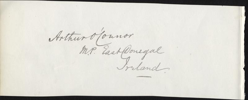 Image 3 for Matthew S. Quay - Autograph co-signed by: Arthur O'Connor - HFSID 33951