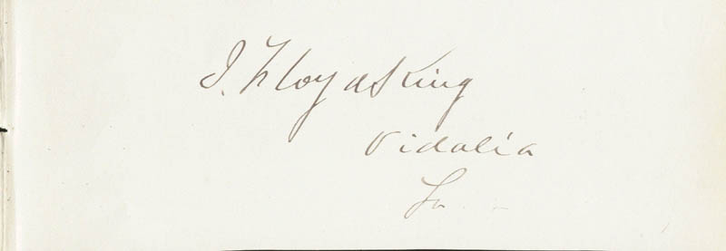 Image 1 for J. Floyd King - Autograph - HFSID 33964