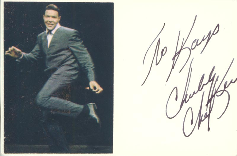 Image 1 for Chubby 'The Twist King' Checker - Inscribed Signature - HFSID 34015