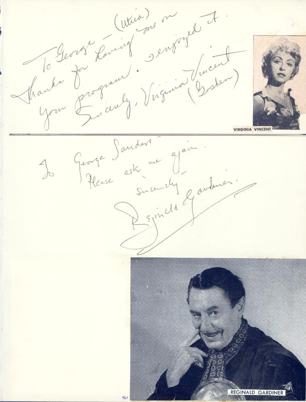 Image 3 for Buddy Defranco - Inscribed Signature co-signed by: Virginia Vincent, Reginald Gardiner - HFSID 34041