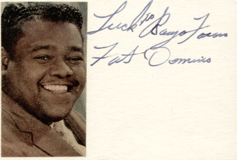 Image 1 for Fats Domino - Autograph Note Signed - HFSID 34047