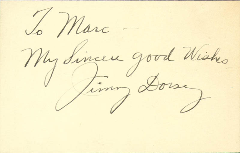 Image 1 for Jimmy Dorsey - Autograph Note Signed - HFSID 34048