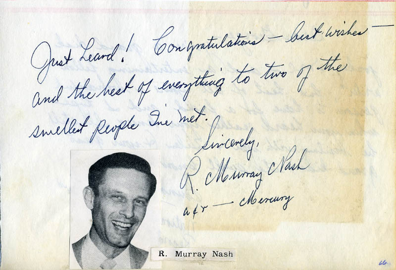 Image 1 for Murray (Robert Murray) Nash - Autograph Note Signed co-signed by: Sunny Ciesla - HFSID 34056